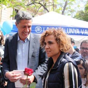 Dolors Montserrat i Xavier Garcia Albiol Sant Jordi 2017   ACN