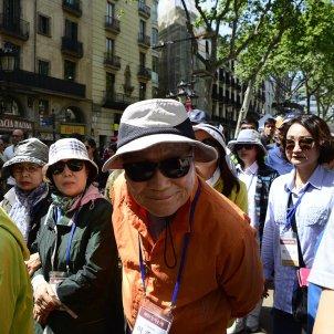 turistes rambla Sant Jordi Laura Gómez
