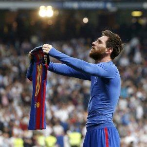 Leo Messi samarreta Barça Reial Madrid Bernabeu Efe