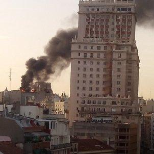 Incendi Gran Vía Madrid