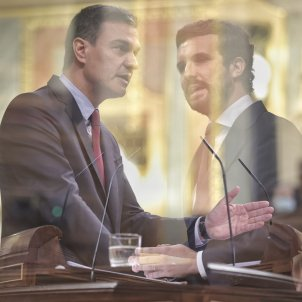 EuropaPress E. Parra  lider pp pablo casado presidente gobierno pedro sanchez