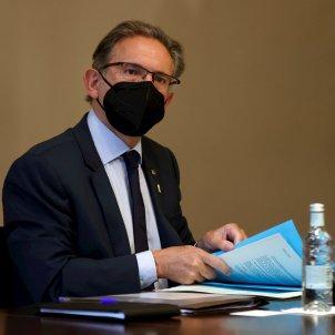 El consejero de Economía Jaume Giró en la reunión semanal del consejo ejecutivo   EFE