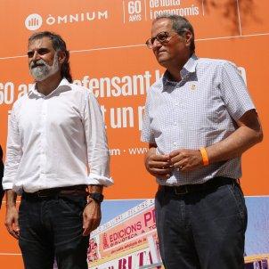 Jordi Porta, Josep Millàs, Jordi Cuixart y Quim Torra aniversario OÓmnium Cultural ACN