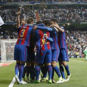 Barça pinya Reial Madrid Efe