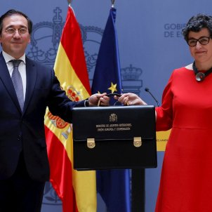 El nuevo Ministro de Asuntos Exteriores, Unión Europea y Cooperación, José Manbuel Albares, recibe cartera de Arancha González Laya   EFE