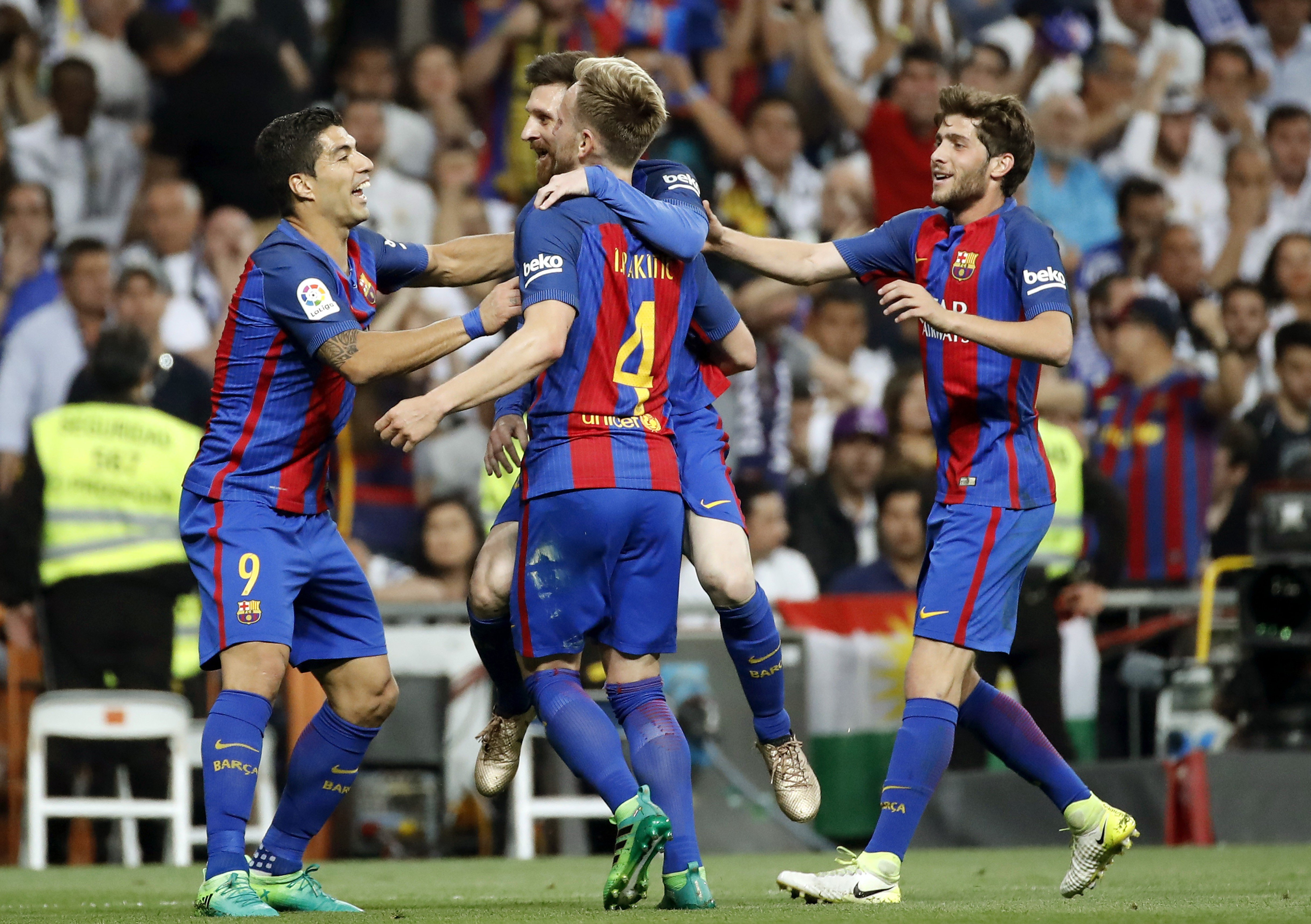 Barça Madrid gol Messi Suarez Rakitic Roberto EFE
