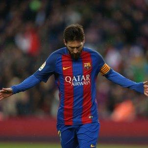 Leo Messi celebracio gol Barça Osasuna EFE