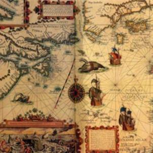 Mapa de l'Atlàntic Nord (segle XVI). Font Eusko Ikaskuntza