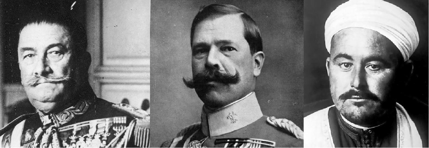 Els generals Berenguer i Fernández Silvestre, i Abd el Krim. Font Wikimedia Commons
