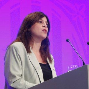 Consellera de Recerca i Universitats, Gemma Geis, en la rueda de prensa del Govern, nuevas medidas covid - ACN