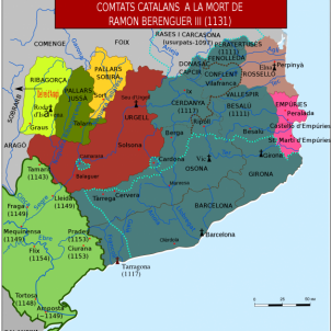 Ramon Berenguer IV conquesta l'ultim reducte islamic al nord de l'Ebre. Mapa