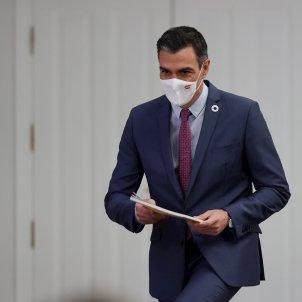 El Presidente del Gobierno, Pedro Sánchez, balance del año político en la rueda de prensa de hoy - Efe