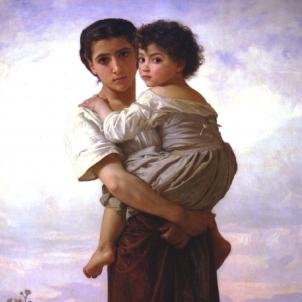 Ferran VI ordena la Gran Redada contra la població gitana hispànica. Representació d'una mare i un nen gitanos. Font Wikimedia Commons