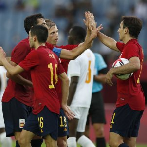 celebracion gol españa costa de marfil @sefutbol