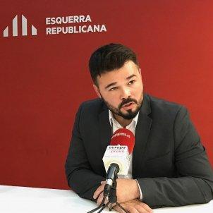 Rufián entrevista Europa Press   Europa Press