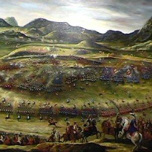 Quan el mal ve d'Almansa, a tots alcança. Representació de la batalla. Font Universitat de Valencia