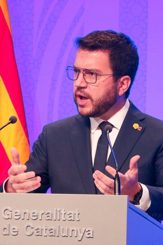 Pere Aragonès comparecencia Govern / ACN