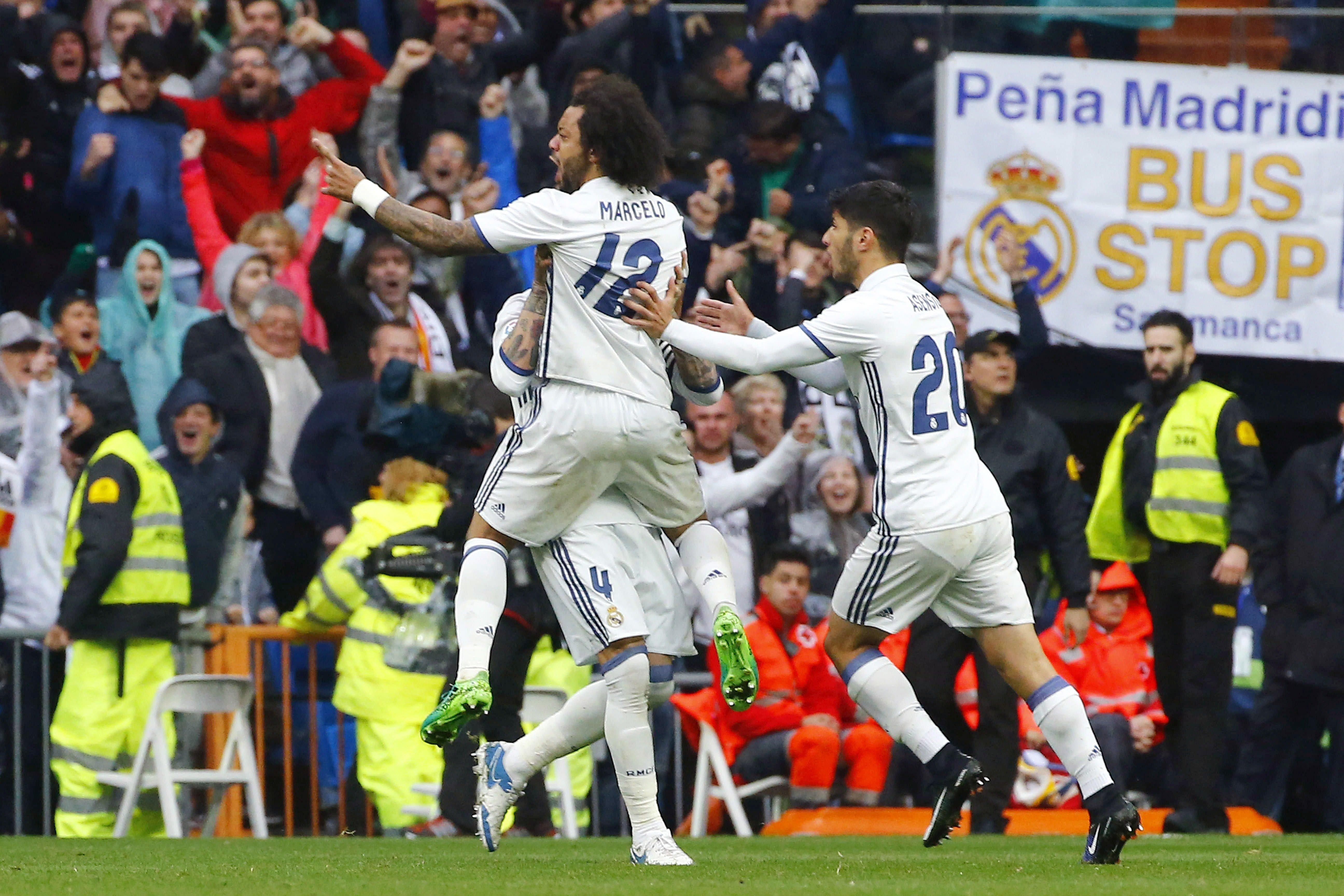Reial Madrid Valencia celebracio gol Marcelo EFE