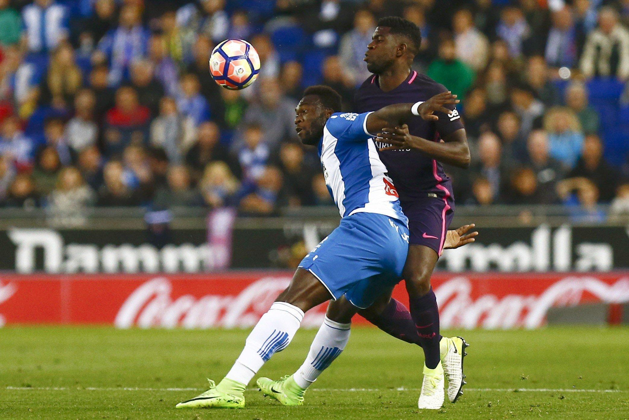 Caicedo Umtiti Espanyol Barça Efe