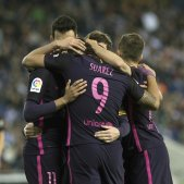 Barça celebracio gol Espanyol EFE