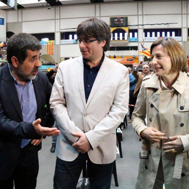 Sànchez, Puigdemont I Forcadell A L'assemblea De L'anc   Acn