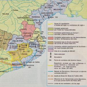 Carlemany renuncia a la Marca Hispànica i es centra en la Marca de Gòtia. Mapa de la Marca de Gotia. Font Arxiu d'ElNacional (1)