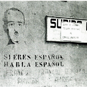 Test 133. La persecució del català. Grafiti franquista. Font Arxiu d'ElNacional