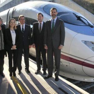 Inauguració de la connexió d?alta velocitat Barcelona-Girona