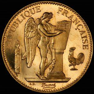 França 1889 moneda 100 Francs