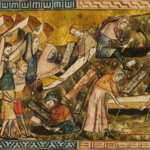 La Pesta Negra arriba als territoris de la Corona catalana. Representació coetània de la Pesta Negra. Font Wikimedia Commons (1)