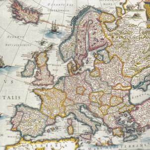 Catalunya i França signen una aliança contra la monarquia hispànica. Mapa d'Europa (1641). Font Biblioteca Digital Hispànica (1)