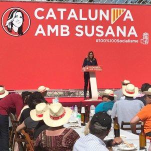 Susana Díaz a Catalunya per les primàries del PSOE