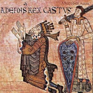 Neix Castella, un quart de segle després que Catalunya. Representació coetània d'Alfons II d'Astúries. Font Museu Diocesà d'Oviedo