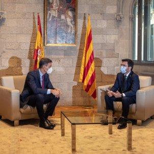 Pedro Sánchez Pere Aragonès Reunión Previa Mesa de diálogo / Sergi Alcàzar