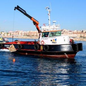 Instalación de biotopos en el Puerto de Tarragona - ACN