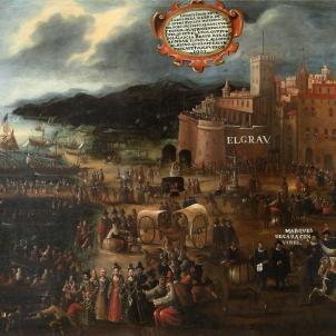 Felip III inicia l'expulsió dels moriscos valencians. Embarcament forçat dels moriscos valencians al port de València. Font Wikimedia Commons