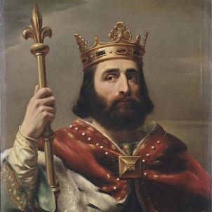 Mor Pipí el Breu, fundador de la Marca de Gòtia. Representació moderna de Pipí. Font Museu de Versalles