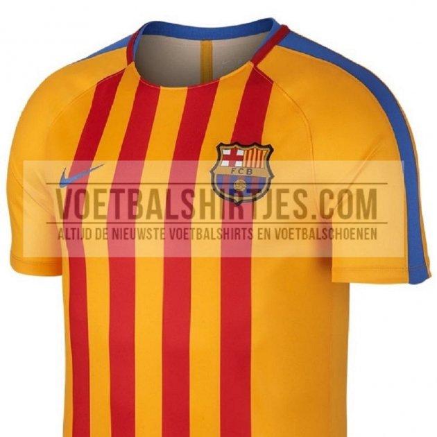 3225326cc62f5 Barça samarreta senyera escalfament 2017 18 Voetbalshirtjes