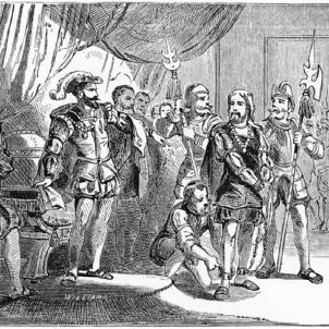 Cop d'estat contra els Colom i el seu entorn català. Representació moderna de la detenció dels Colom. Font Harper's Encyclopedia of United States History