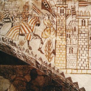 Jaume I pren possessió de la ciutat de València. Representació coetània de l'entrada de Jaume I a València. Font Enciclopedia