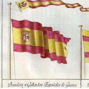 Isabel II instaura la rojigualda com a bandera espanyola. Dissenys primigenis de la bandera espanyola. Font Blog La Vaca Cega (1) (1)