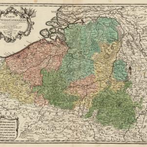 Felip II ordena l'assassinat dels representants polítics de Flandes. Mapa dels Paisos Baixos catòlics. Font Cartoteca de Catalunya (2)