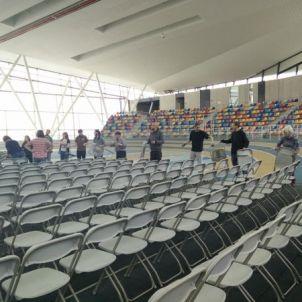 Una imatge de la pista d'atletisme coberta de Sabadell /CUP