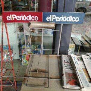 El Periódico vaga quiosc buit
