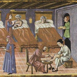 Mor el Pare Jofré. Hospital de pobres de València. Segle XV