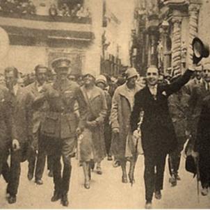 Mor Joaquim Bau. Visita Alfons XIII a Tortosa. 1926