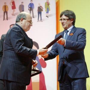 Premis Pimec - Jose Antich - Carles Puigdemont - Sergi Alcàzar