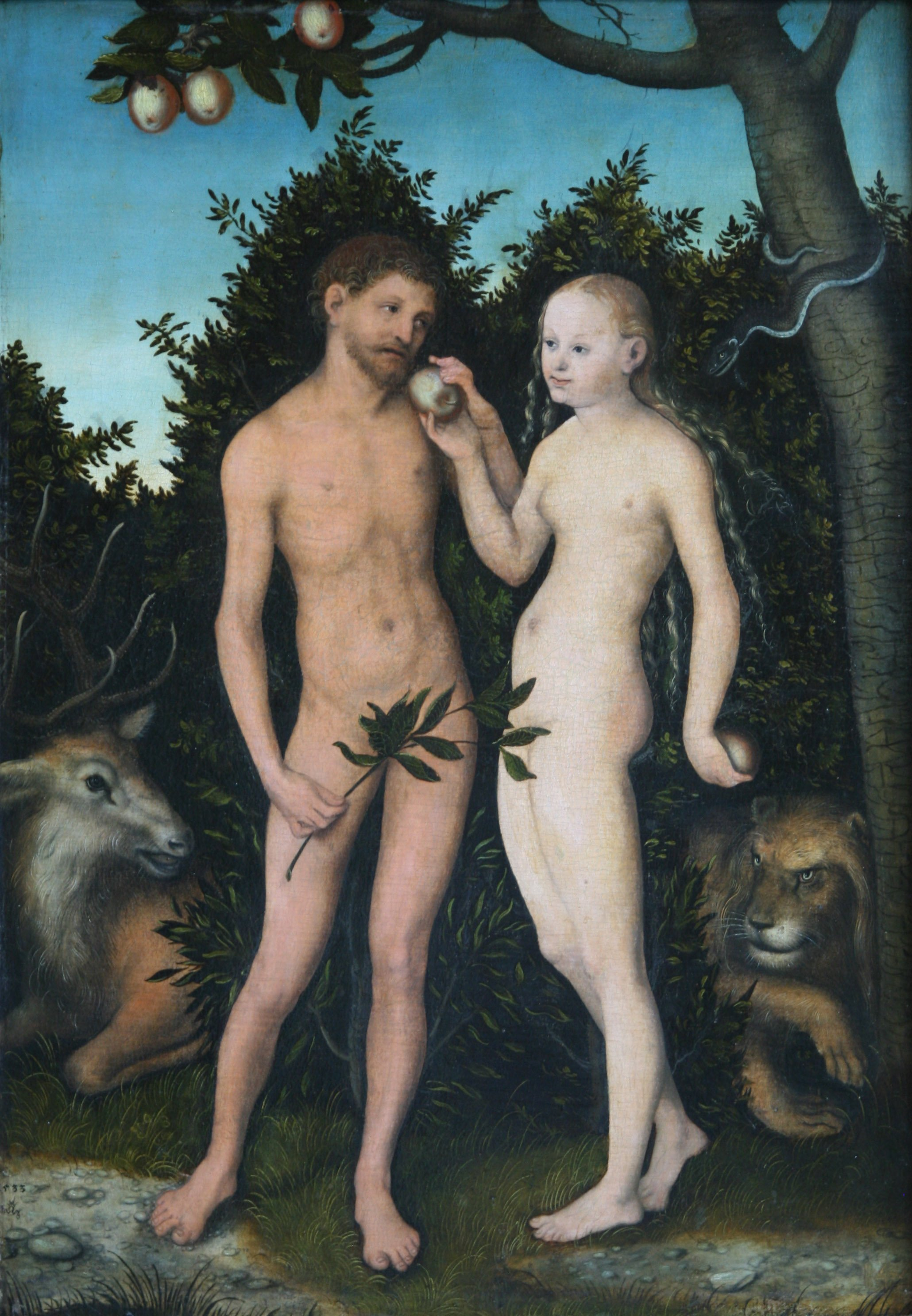 mentida Lucas Cranach the Elder Adam and Eve 1533