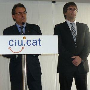 Artur Mas, Oriol Pujol i Carles Puigdemont en rdp a Girona 2000px