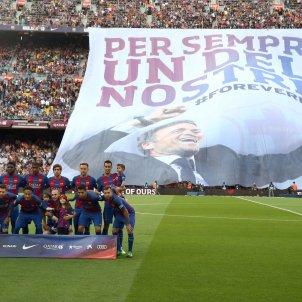 Luis Enrique comiat Camp Nou pancarta EFE